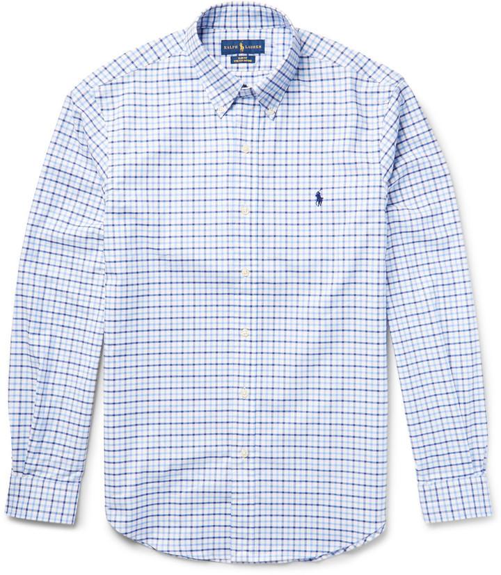 45b49f92b Camisa de vestir a cuadros celeste de Polo Ralph Lauren, €89 | MR ...
