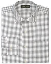 Camisa de vestir a cuadros en blanco y negro