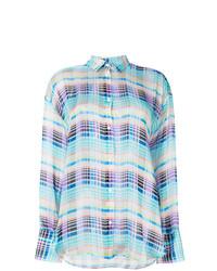 Camisa de vestir a cuadros en multicolor de MSGM