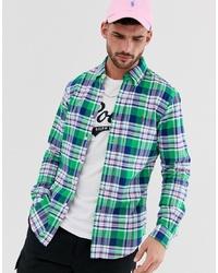 Camisa de vestir a cuadros en verde azulado de Polo Ralph Lauren