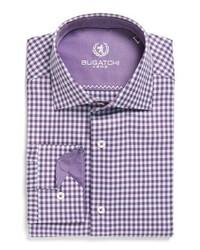 Camisa de vestir a cuadros en violeta