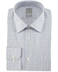 Camisa de vestir a cuadros gris
