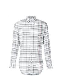 Camisa de vestir a cuadros gris de Thom Browne