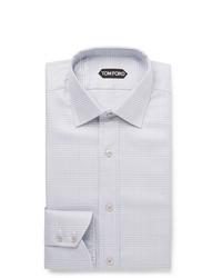 Camisa de vestir a cuadros gris de Tom Ford