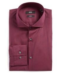 Camisa de vestir a cuadros morado