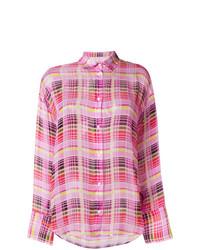 Camisa de vestir a cuadros rosada de MSGM