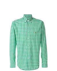 Camisa de vestir a cuadros verde de Etro