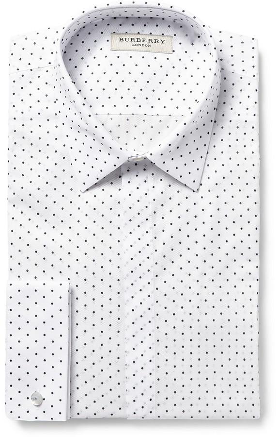 6ae845b0 Camisa de vestir a lunares blanca de Burberry