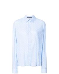 Camisa de vestir a lunares celeste de Haider Ackermann