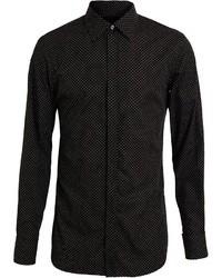 Camisa de vestir a lunares en negro y blanco