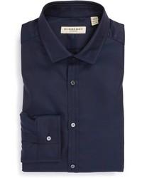 Camisa de vestir azul marino