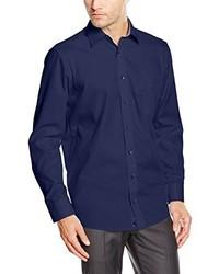 Camisa de vestir azul marino de Casamoda