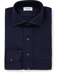 Camisa de vestir azul marino de Drakes