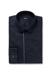 Camisa de vestir azul marino de Hugo Boss