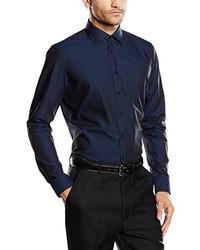 Camisa de Vestir Azul Marino de Jacques Britt