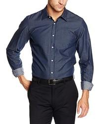 Camisa de Vestir Azul Marino de s.Oliver