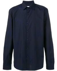 Camisa de vestir azul marino de Versace Collection