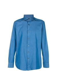 Camisa de Vestir Azul de Ermenegildo Zegna