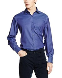 Camisa de vestir azul de Eterna Mode GmbH