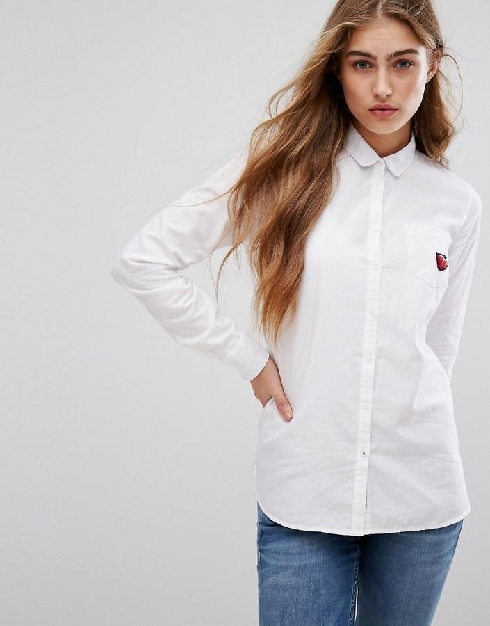 fb7e6b7b0d745 ... Camisa de vestir blanca de Tommy Hilfiger ...