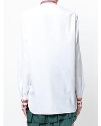 Camisa de vestir bordada blanca de Ermanno Scervino