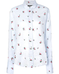 Camisa de vestir bordada celeste de Isabel Marant