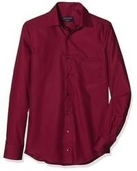 Camisa de vestir burdeos de Casamoda