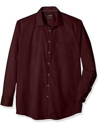 Camisa de vestir burdeos de Seidensticker