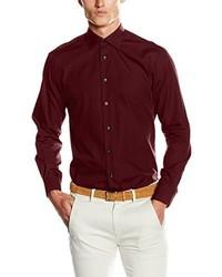 Camisa de vestir burdeos de Tommy Hilfiger