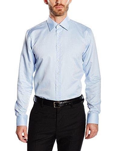 Camisa de vestir celeste de Bugatti