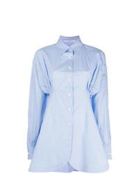Camisa de vestir celeste de Ermanno Scervino