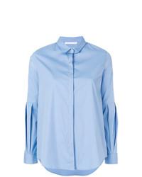 Camisa de vestir celeste de Fabiana Filippi