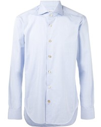 Camisa de vestir celeste de Kiton