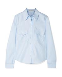 Camisa de vestir celeste de Stella McCartney