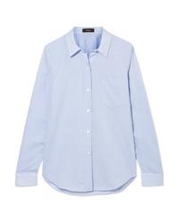 Camisa de vestir celeste de Theory