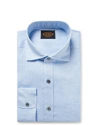 Camisa de vestir celeste de Tod's