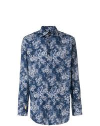 Camisa de Vestir con print de flores Azul Marino de Billionaire