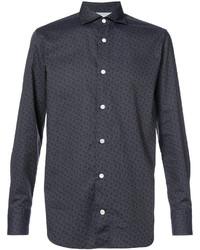 Camisa de Vestir con print de flores Azul Marino de Eleventy
