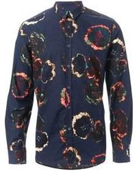Camisa de Vestir con print de flores Azul Marino de Paul Smith
