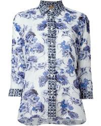 Camisa de Vestir con print de flores Blanca de Fay