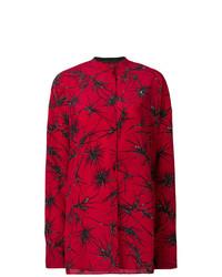 Camisa de vestir con print de flores burdeos de Haider Ackermann