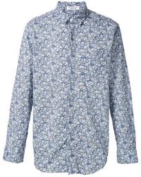 Camisa de vestir con print de flores celeste de Engineered Garments