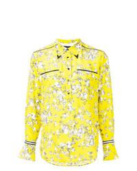 Camisa de vestir con print de flores en amarillo verdoso de Rag & Bone