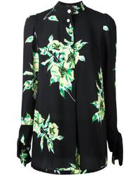 Camisa de vestir con print de flores negra de Proenza Schouler