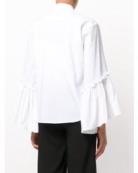 Camisa de vestir con volante blanca de P.A.R.O.S.H.
