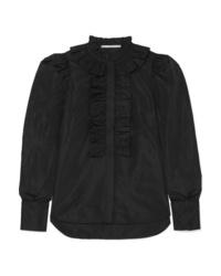 Camisa de vestir con volante negra de Stella McCartney