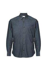 Camisa de vestir de cambray azul marino de Cerruti 1881