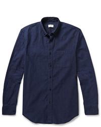 Camisa de vestir de cambray azul marino de Club Monaco