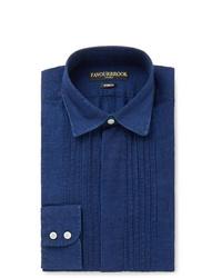 Camisa de vestir de cambray azul marino de Favourbrook