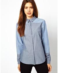 Camisa de vestir de cambray azul de Asos